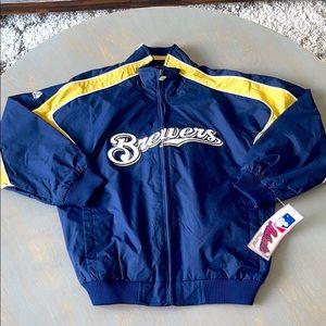 Milwaukee Brewers Baseball Majestic Youth Jacket